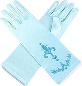 Elsa handschoenen lichter blauw bij jurk verkleedkleding