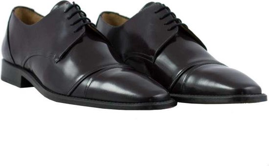 Herenschoenen - handgemaakt - man - leer - bordeauxrood - leather - maat 40