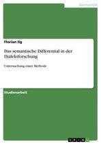 Das semantische Differential in der Dialektforschung
