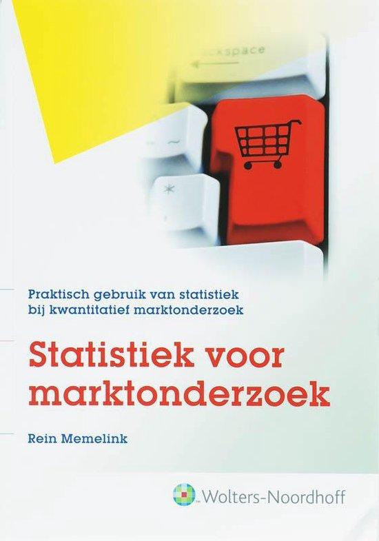 Statistiek voor marktonderzoek - Rein Memelink |
