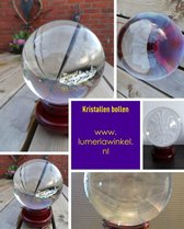 Kristallen - Glazen Bol 10 cm incl. losse standaard