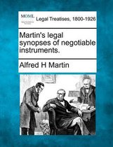 Martin's Legal Synopses of Negotiable Instruments.