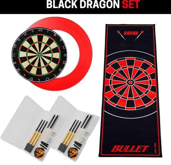 Dragon darts - Black Dragon PRO dart super set - rood