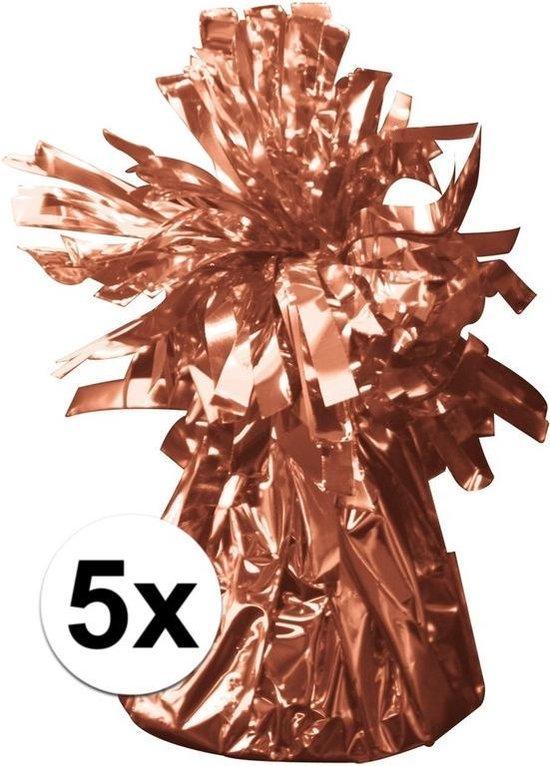 5x Ballon gewicht rose goud 170gr
