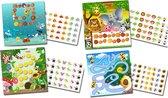 Beloningssysteem met stickers Gezellige Diertjes - Complete Set - Plaskaart - Beloningskaart