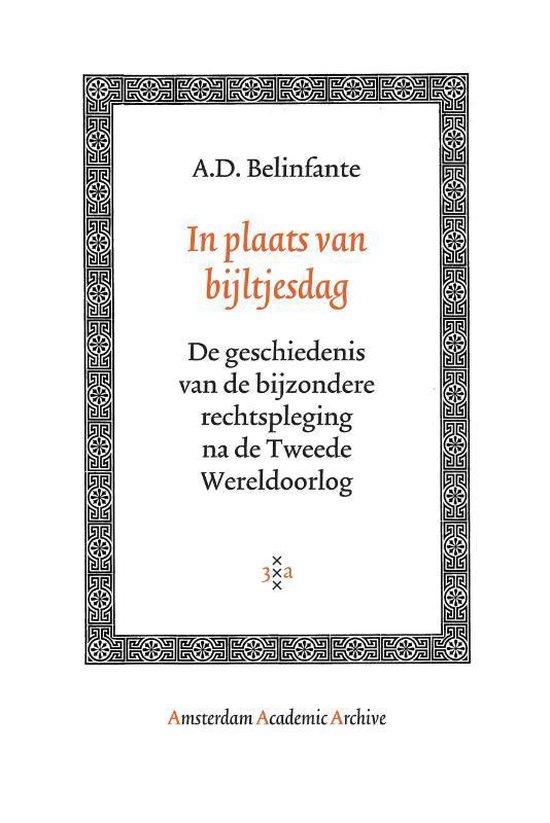 In plaats van bijltjesdag - A.D. Belinfante |