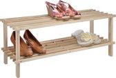 Haushalt 90015 Schoenenrek hout met 2 lagen 74x27x29,5 cm