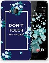 HTC U Play TPU-siliconen Hoesje Flowers Blue DTMP