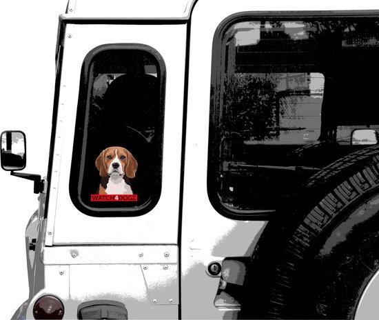 Beagle sticker (set van 2 stickers)