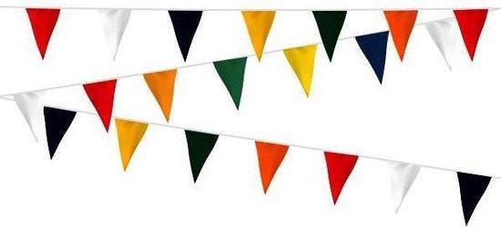 Vlaggenlijn stof Vrolijke kleuren - 12m | Brandvertragend