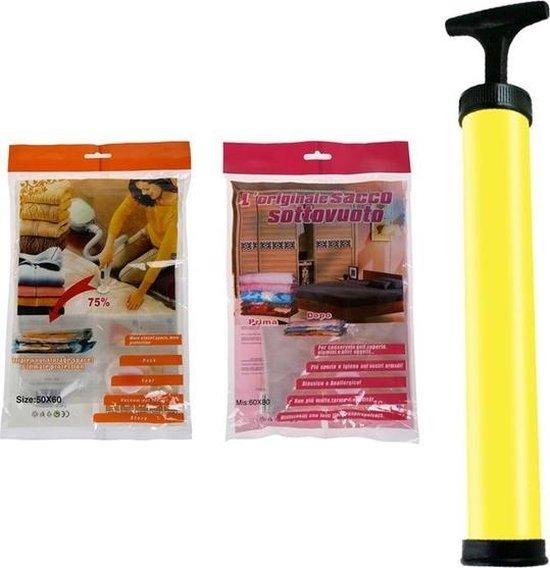 Vacuum Kleding Opbergzakken M & L Vacuumzak - Kledingzak Met Vacuum Pomp