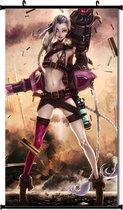 Sexy Jinx Silk-Scroll 'League Of Legends '