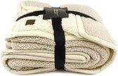 GAEVE | Zest fleece deken - heerlijk zacht, warm plaid - 125*150 cm  -  Cosy Beige/Ivoor