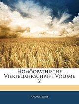 Homoopathische Vierteljahrschrift, Volume 2