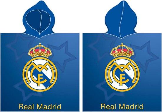 Real Madrid Badponcho Logo 55 X 115 Cm Blauw