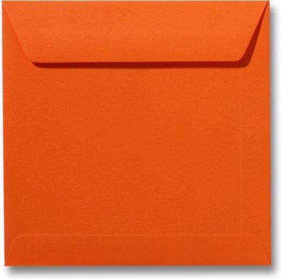 Envelop 19 x 19 Donkeroranje, 100 stuks