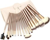 Evvie Professionele Make-up Kwasten in Hoes - Kwastenset - 18 stuks