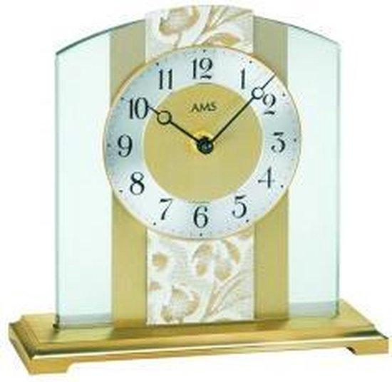 AMS tafel 1123 - Klok - Metaal/Glas - 20x20 cm - Beige