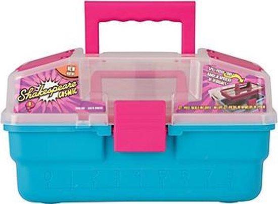Shakespeare Cosmic Tacklebox - Viskoffer voor kinderen - Roze/Blauw