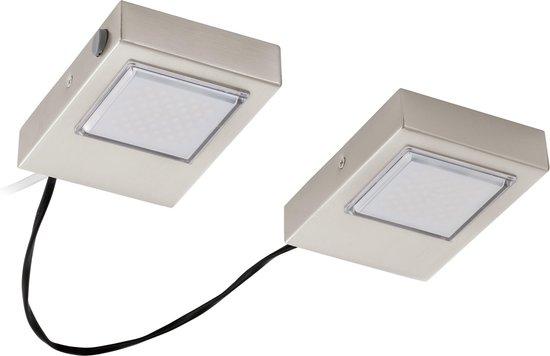 EGLO Lavaio - Onderbouwspotje - 2 Lichts - LED - Nikkel-Mat