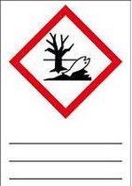 GHS sticker 09 'schadelijk voor het milieu' beschrijfbaar, 105 x 148 mm (1 per vel)