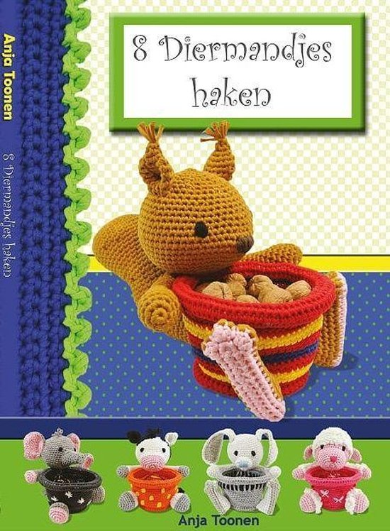 Boek cover 8 Diermandjes haken van Anja Toonen (Paperback)