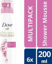 Dove Rose Oil Doucheschuim - 6 x 200 ml - Voordeelverpakking