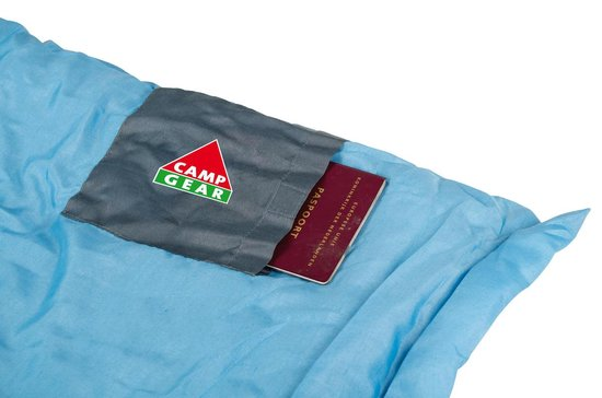 Camp-gear Slaapzak - Populair-l - 200x80 Cm - Grijs/blauw