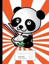 Panda Graph Paper Composition Book