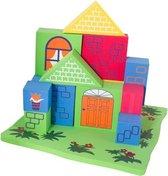 Imaginarium Badblokken Huis - Drijvende Blokken voor in Bad - Met Basis om op te Bouwen