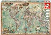 Educa Miniatuur puzzel - Wereldkaart - 1000 stukjes