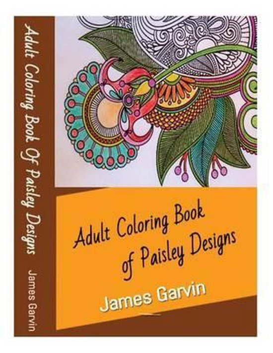 Adult Coloring Book of Paisley Designs