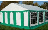 Classic Plus Partytent PVC 5x8x2 mtr in Wit-Groen