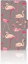 LG K10 (2017) Bookcase Hoesje Flamingo