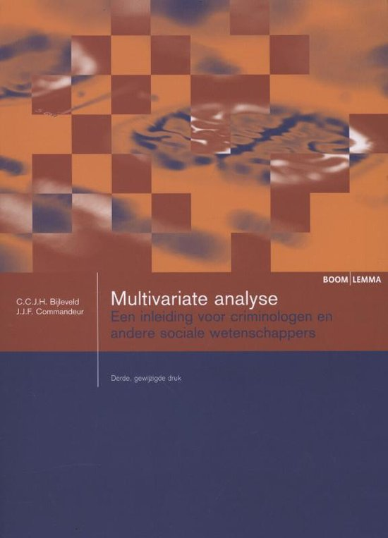 Boom studieboeken criminologie - Multivariate analyse - C.C.J.H. Bijleveld |