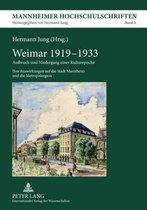 Boek cover Weimar 1919-1933 van Hermann Jung