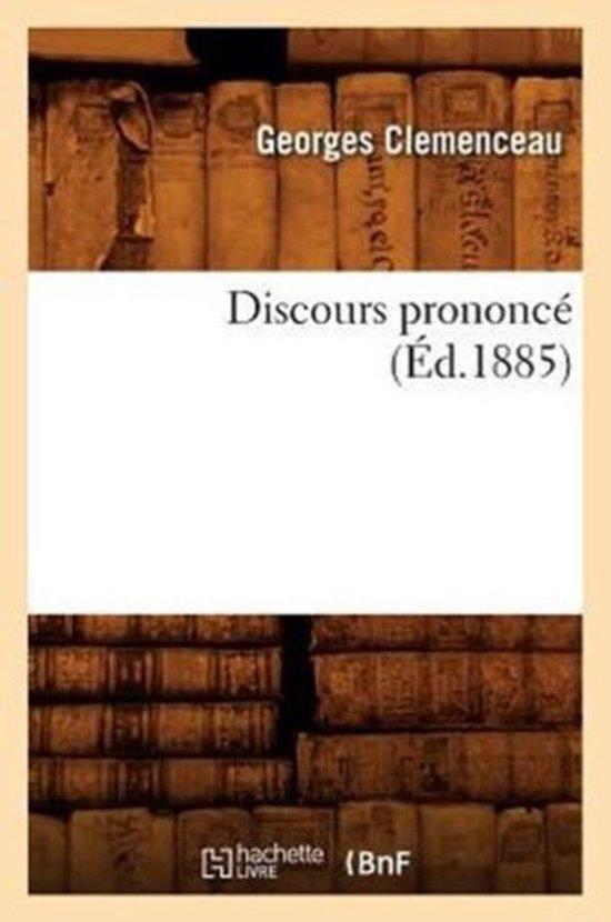 Discours Prononc� (�d.1885)