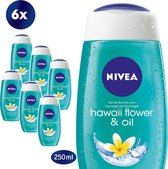 NIVEA Hawaii Flower & Oil Douchegel - 6 x 250 ml - Voordeelverpakking