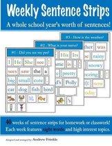 Weekly Sentence Strips