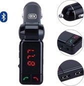 XIB Bluetooth FM Transmitter 2x USB en AUX 3.5mm Jack - MP3 autoradio - Handsfree carkit - Zwart