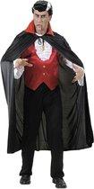 Vampier cape met rode kraag voor volwassenen Halloween artikel - Verkleedstrik - One size