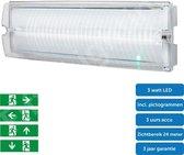 Noodverlichting - vluchtwegverlichting - opbouw - incl. pictogrammen IP65