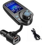 Bluetooth Carkit FM Transmitter voor in de auto - Gymston– Handsfree bellen carkit met AUX / SD kaart / USB - Ingangen - Bluetooth Handsfree Carkits / adapter / auto bluetooth / LCD Display - T10D Carkit