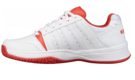 K•Swiss COURT SMASH OMNI - WHITE/FIESTA - Tennisschoenen