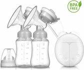 Sargon Dubbele Elektrische Borstkolf - Kolfapparaat - Transparant 150 ml - Borstvoeding geven zonder pomp