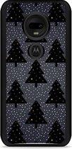Moto G7 / G7 Plus Hardcase hoesje Snowy Christmas Trees