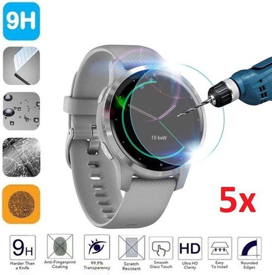 Tempered Glass Screenprotector Voor Garmin Vivoactive 4S - Screen Protector Ultradun Gehard Glas - Set Van 5 Stuks