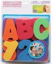Afbeelding van Badspeeltjes 36 letters en cijfers voor in bad – Badspeelgoed – Waterspeelset - Badspeeltjes – Speelgoed voor in bad speelgoed