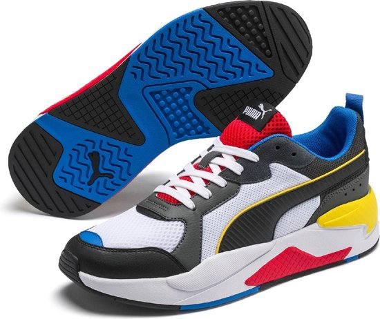 PUMA X Ray Unisex Sneakers - Puma White-Puma Black-Dark Shadow-High Risk  Red-Palace Blue - Maat 42