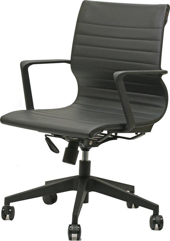 Bureaustoel Zwart Design.Bol Com Design Bureaustoel Lage Rug Zwart